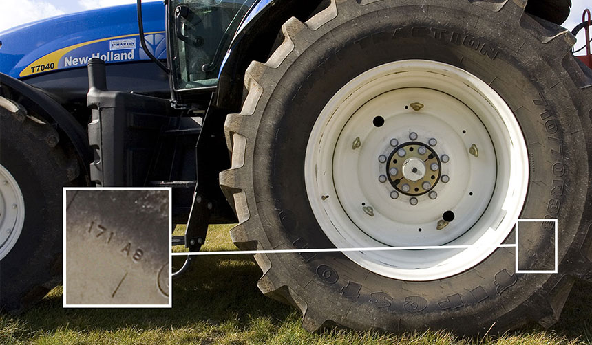 Speed and load index on tractor tyres