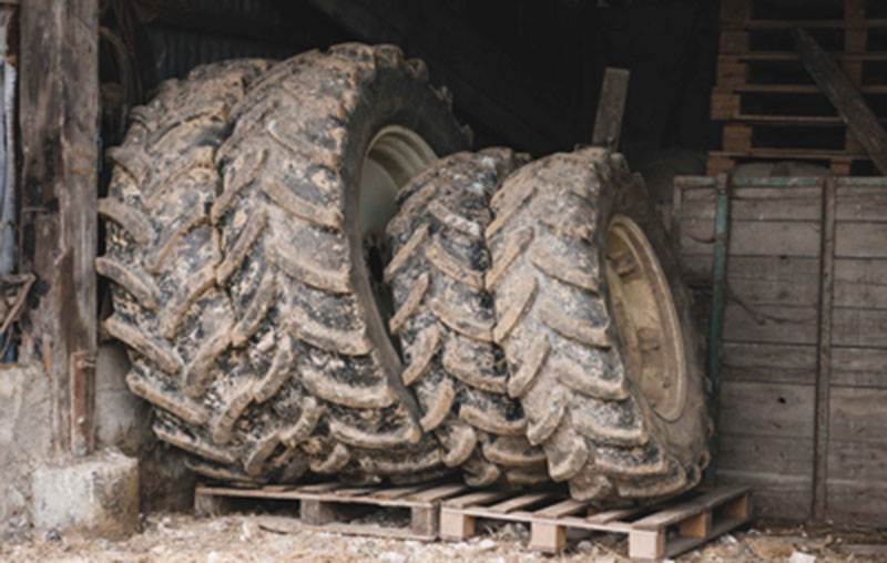 Store your agricultural tyres upright