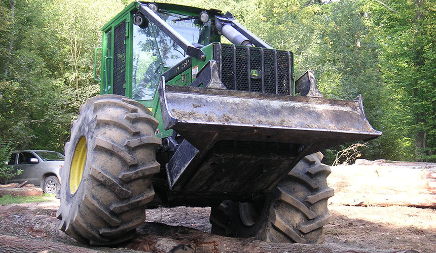 Reinforced forestry tyres
