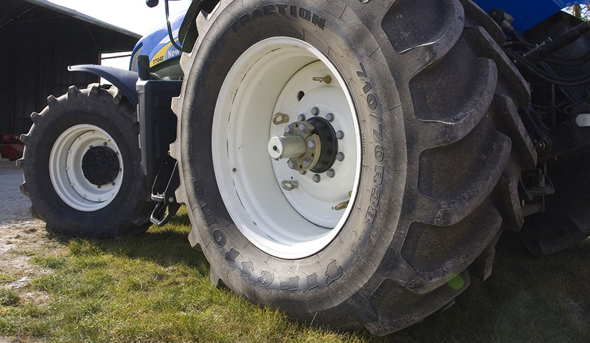 increase the size of my tractor tyres