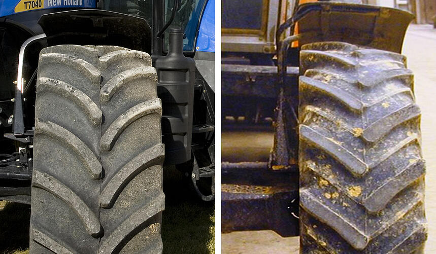 Check the wear to your tyre lugs