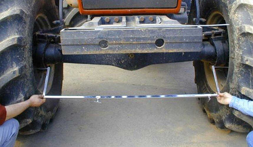 agricultural tyre measuring parallelism