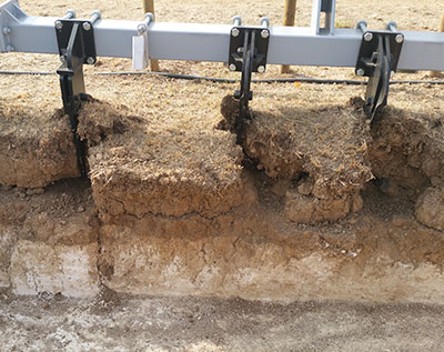 hard and compact soil