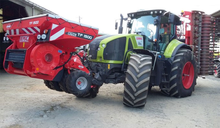Load transfer, tractor with VF tyres