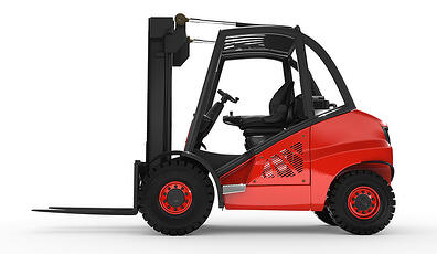 Handle tyres with a Forklift truck