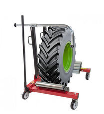 Handle tyres with a wheel balancer