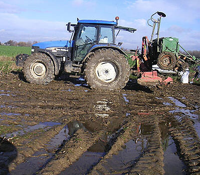 Soil compaction = excess surface water