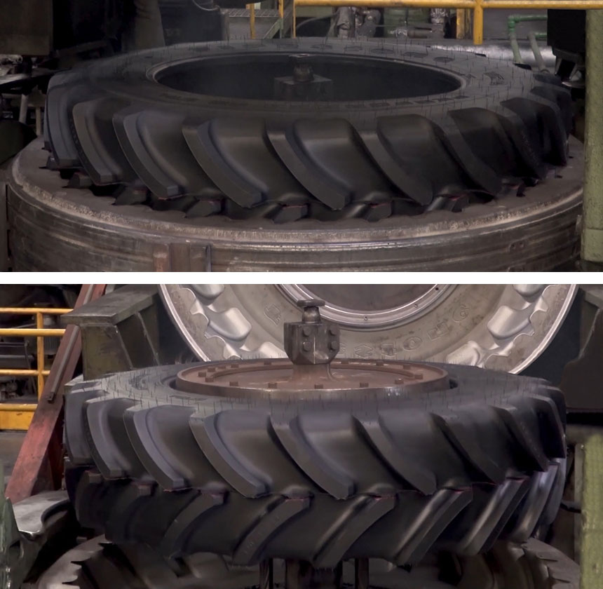 Removal of the tyre from the mould after vulcanisation