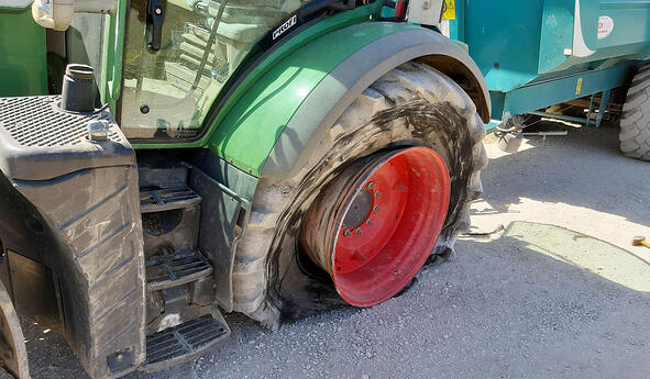 When can you carry out cold repairs on tractor tyres?