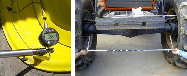 Rotation control tool - wheel alignment gauge