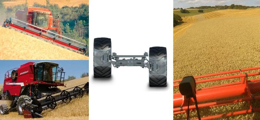 Levelling mechanism in recent combine harvesters