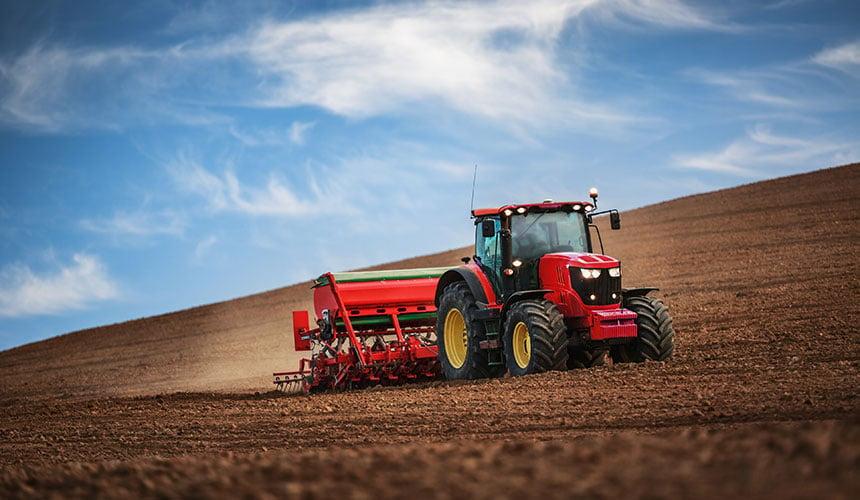Soil preparation on sloping land